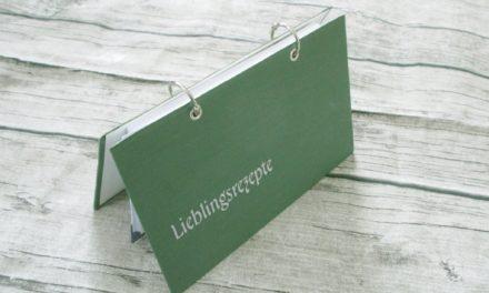 Rezeptbuch aus altem Buch