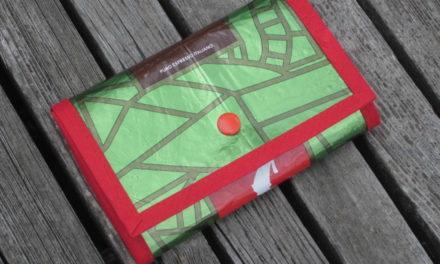 Ganz neu: Brieftasche aus Kaffeepackung