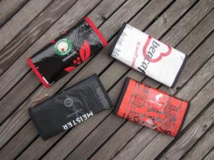 Geldbörse aus Kaffeepackung