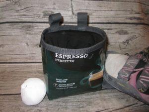 Chalkbag aus Kaffeepackung