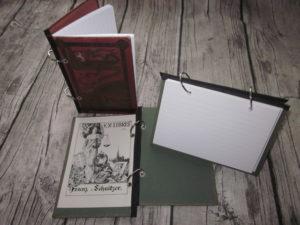 Ringbücher aus alten Büchern