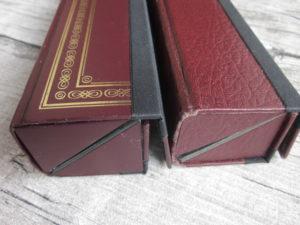 Brillenetui aus altem Buch - Rund und Eckig