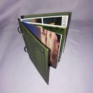 Ringbücher aus alten Büchern für Postkarten